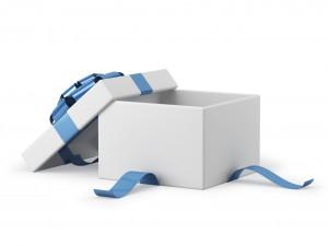 Gift box met betaalbare cadeautjes erin