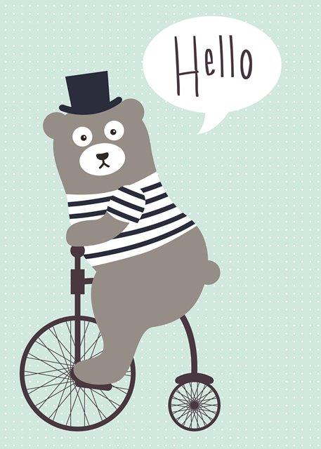 Poster hello bear