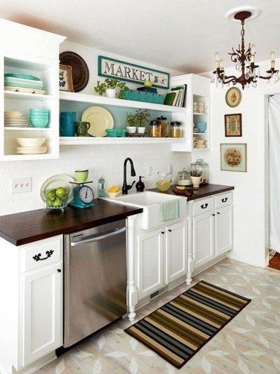 kleine keuken verschillende kleuren