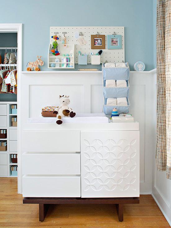 Kleine babykamer - overzichtelijk