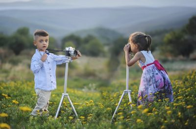 foto's maken kinderen