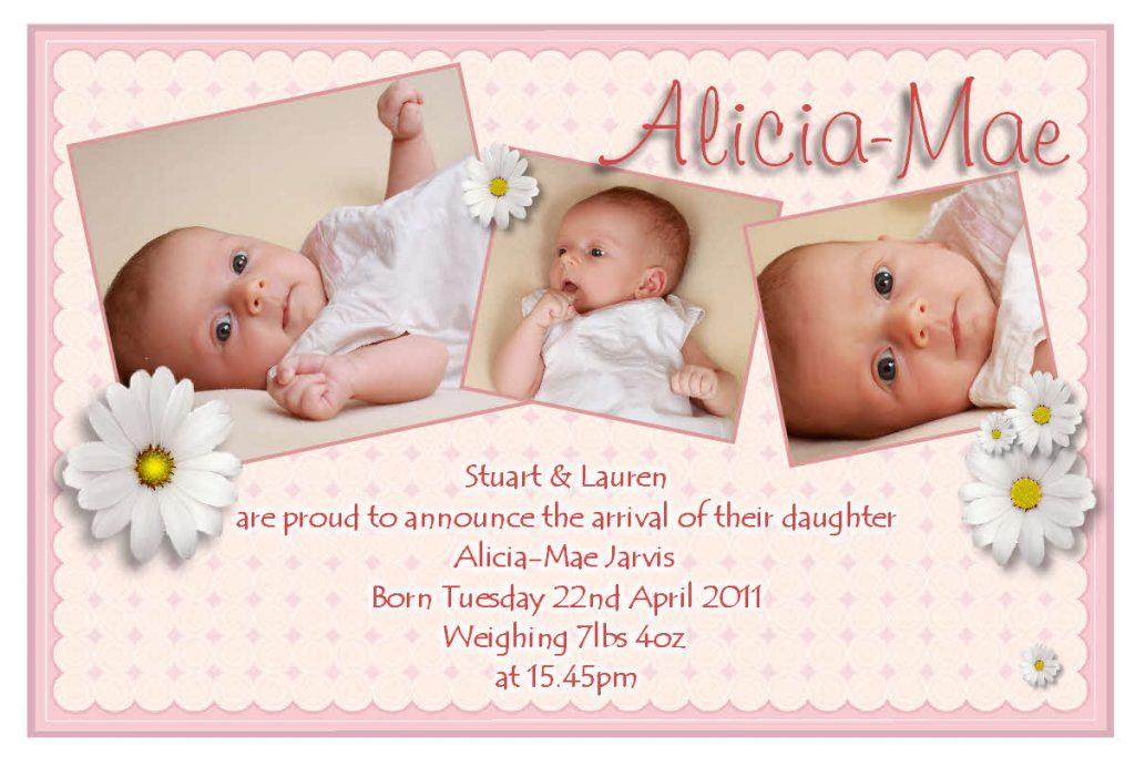 Geboortekaartje met eigen foto's