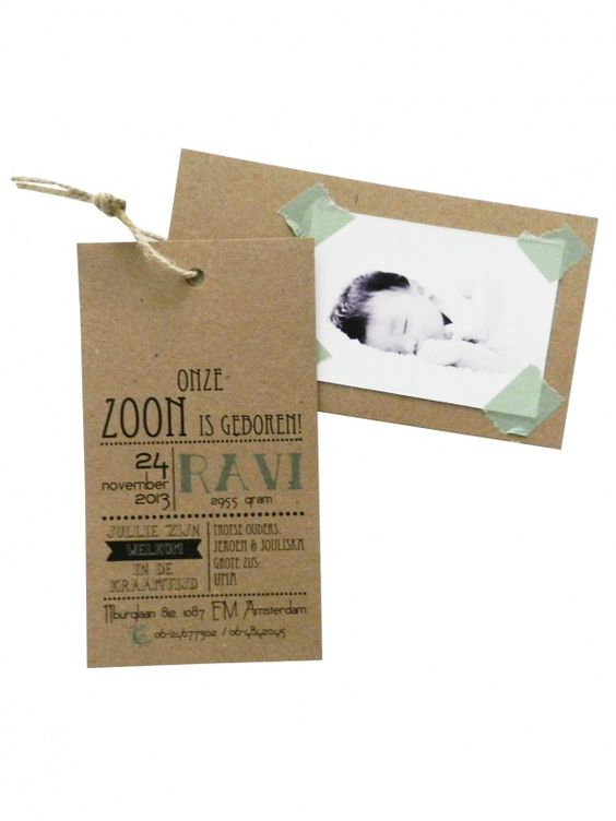 Zelfgeprinte kartonnen labels