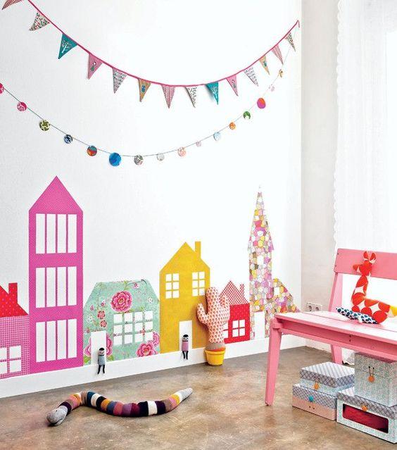 Vlaggetjes in de babykamer