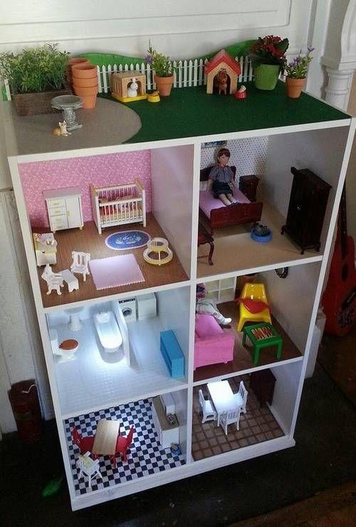 8 prachtige DIY poppenhuizen, villa met dakterras