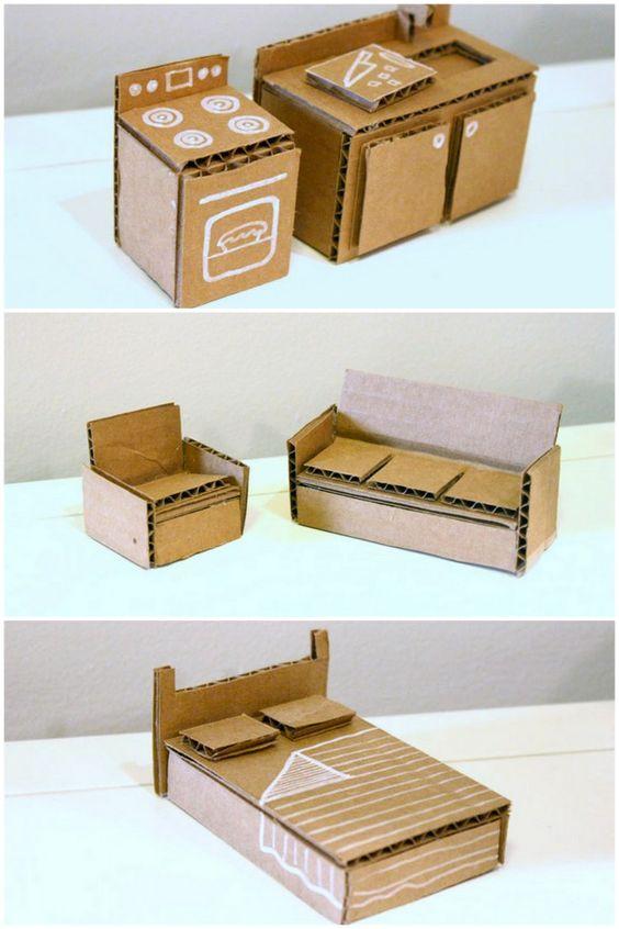x diy ideeen poppenhuis eenvoudig karton