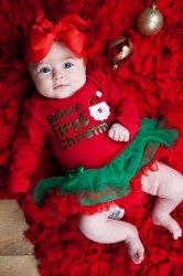 Schattig kerstjurkje baby