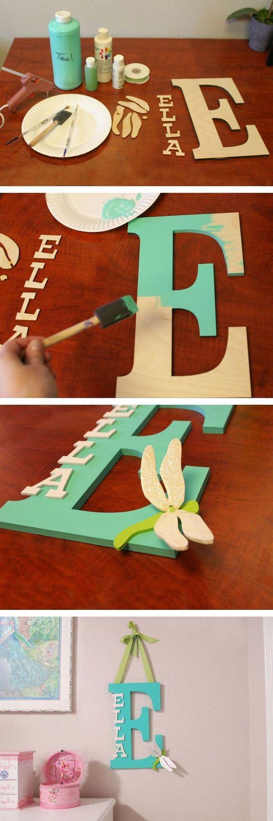 Monogram, geverfd met letters
