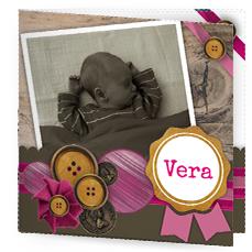 Hip geboortekaartje met foto