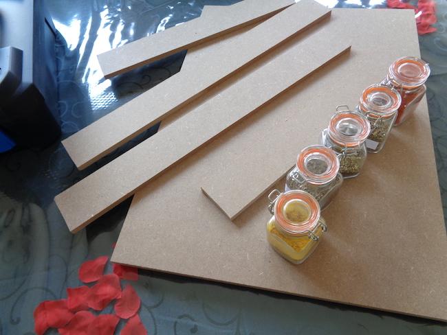 De materialen voor je kruidenrekje