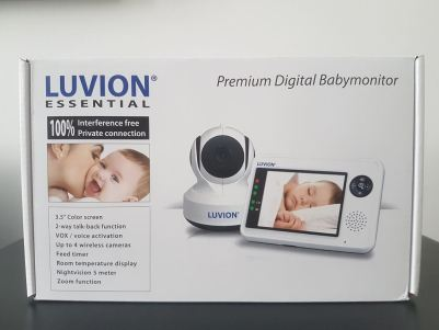 babyfoon met camera doos