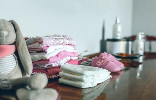 Babyshower handdoekjes en kleren