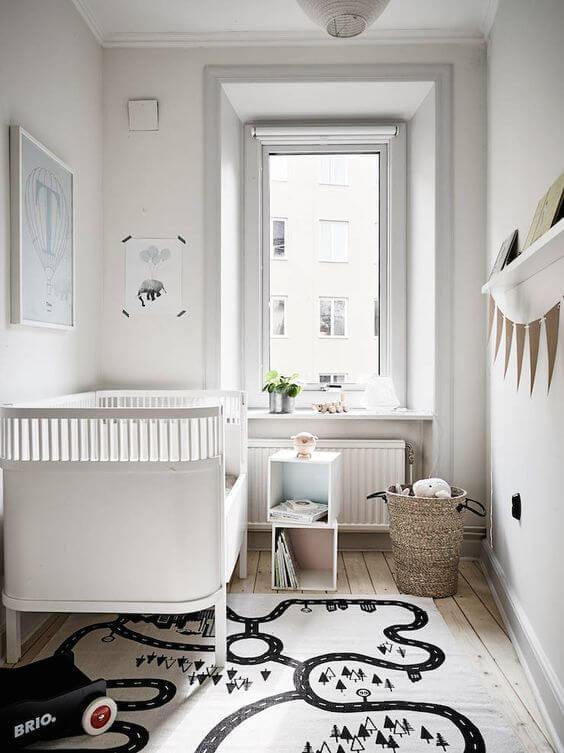 Kleine Scandinavische babykamer