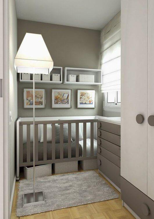 Kleine moderne babykamer