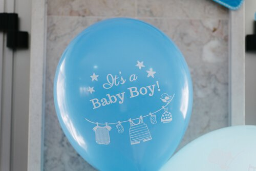 Babyshower persoonlijke ballonnen