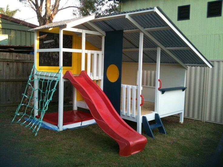 DIY speeltoestel tuin