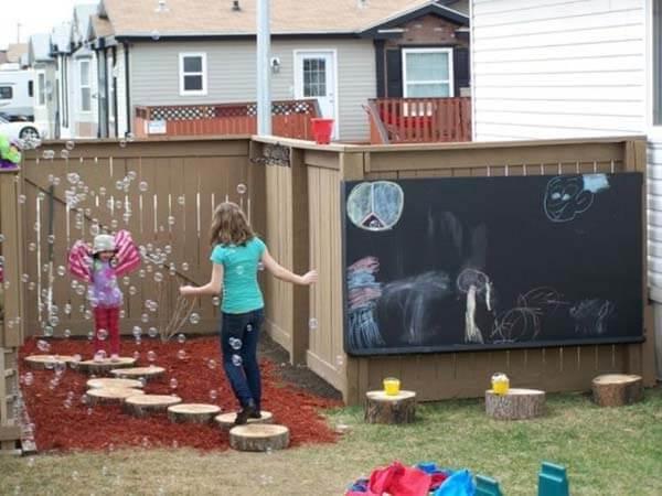 Creatieve tuin voor kinderen