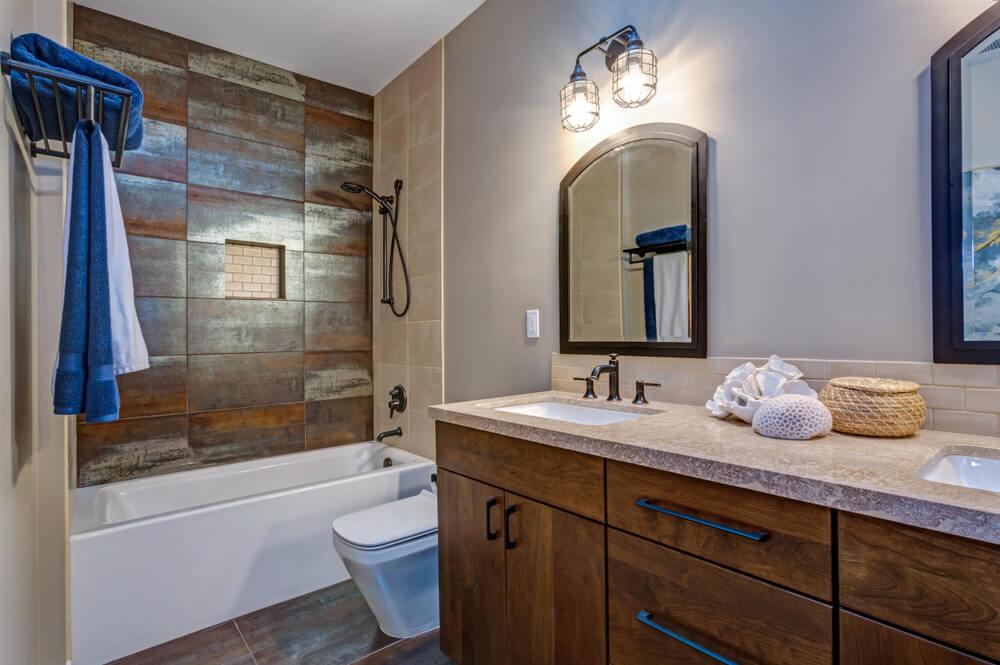 Mooie stijlvolle badkamer