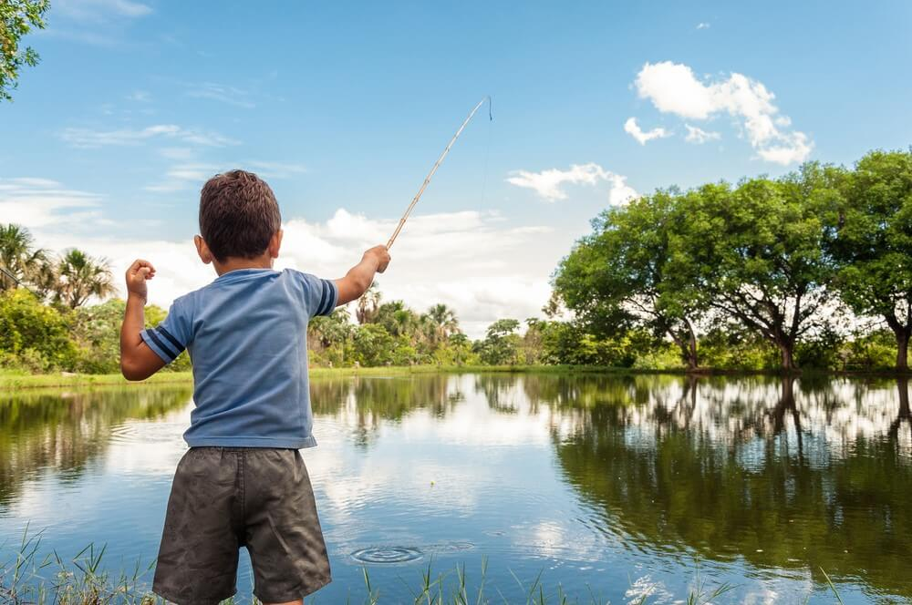 vissen met kinderen