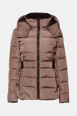 gewatteerde jas met slanke taille