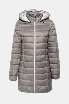 lange grijze mantel