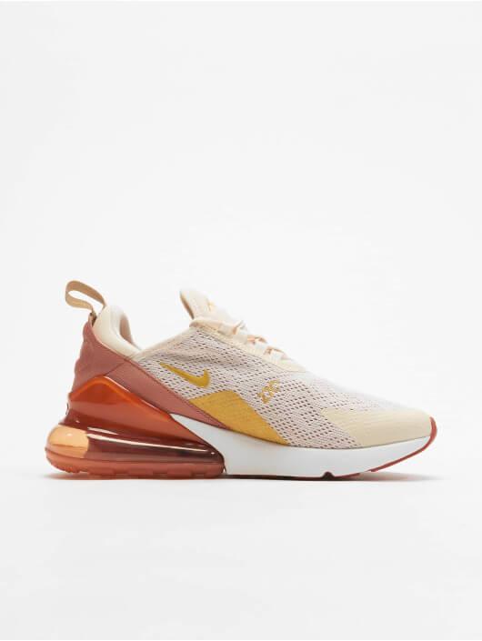 Beige-oranje hiel sportschoenen