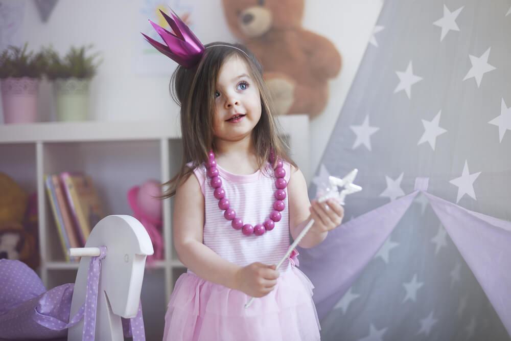 Kind verkleed als prinsesje