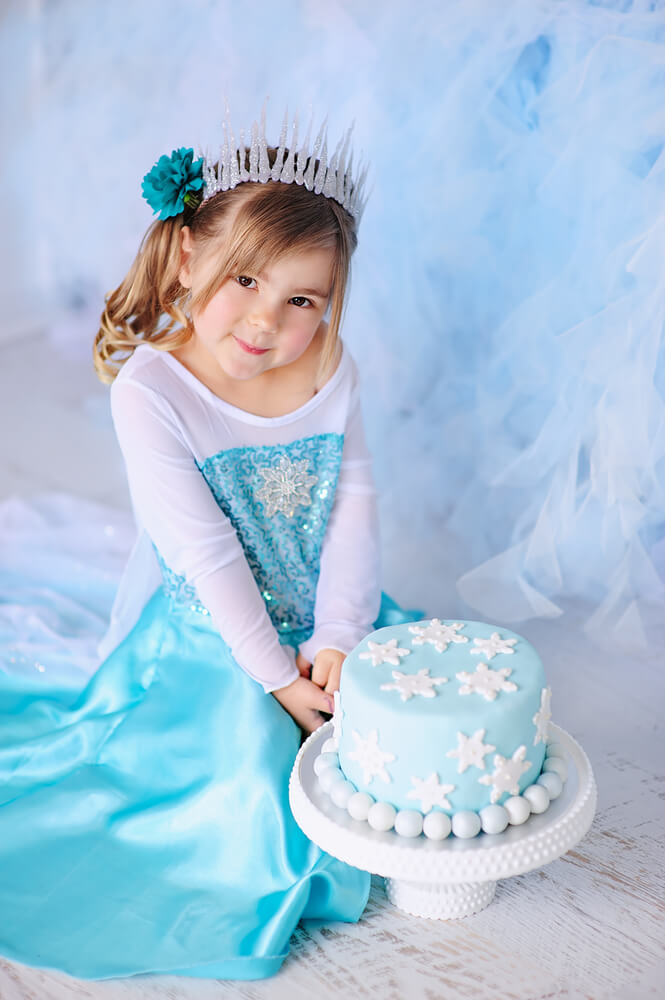 Verkleed als Frozen prinses