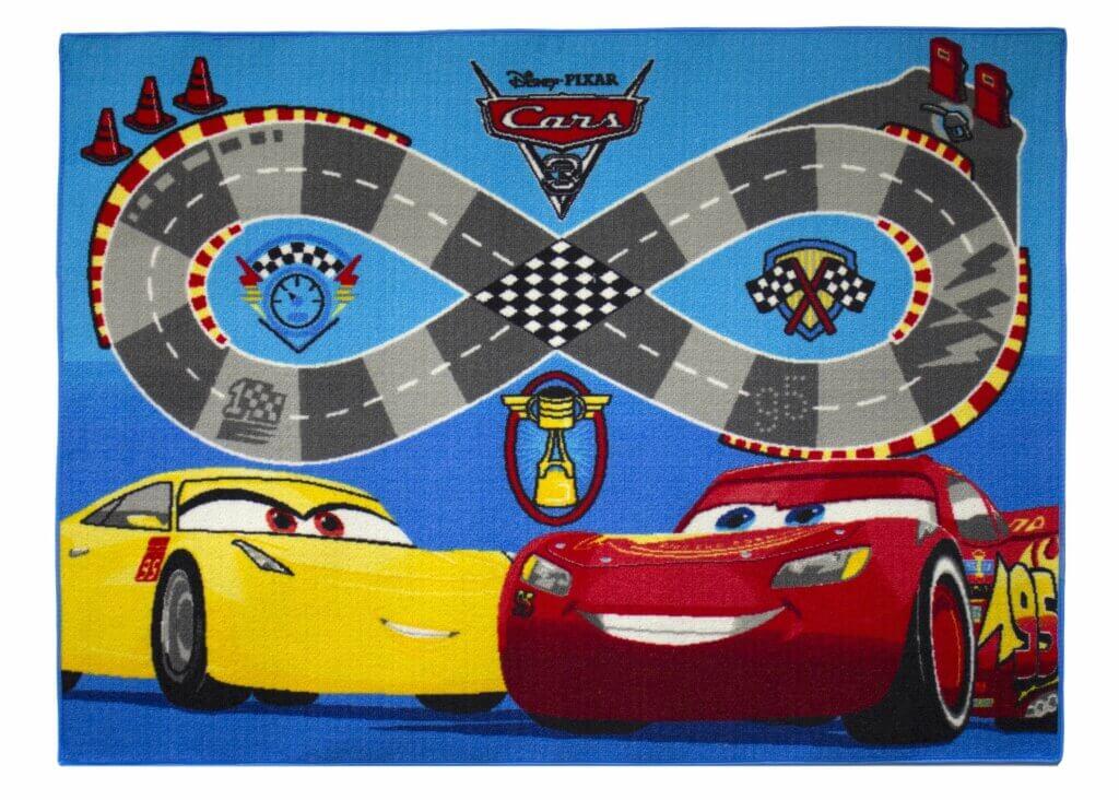 Vloerkleed cars racebaan 3