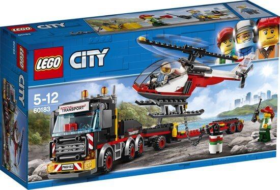 Lego City set met vrachtwagen en helikopter