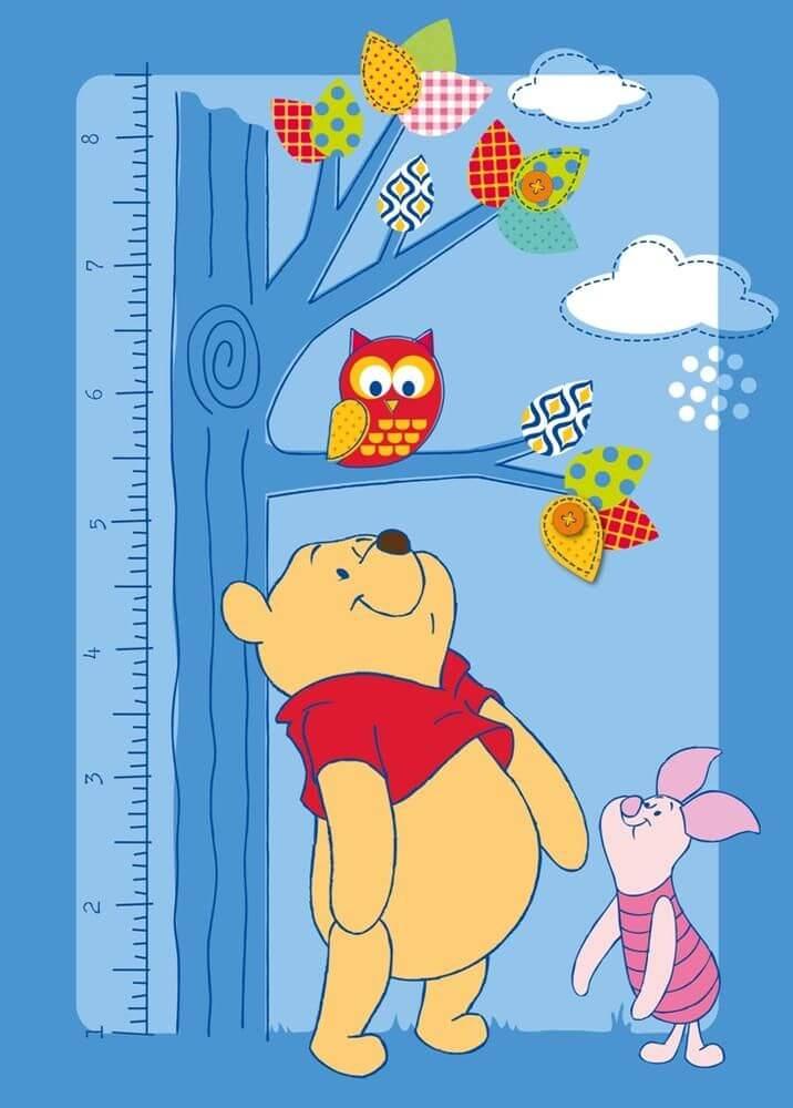 Winnie the poeh vloerkleed met groeimeter