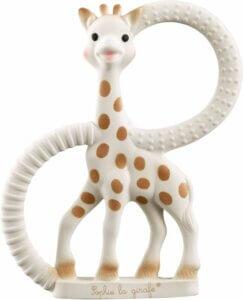 Bijtring van giraffe als kraamcadeau