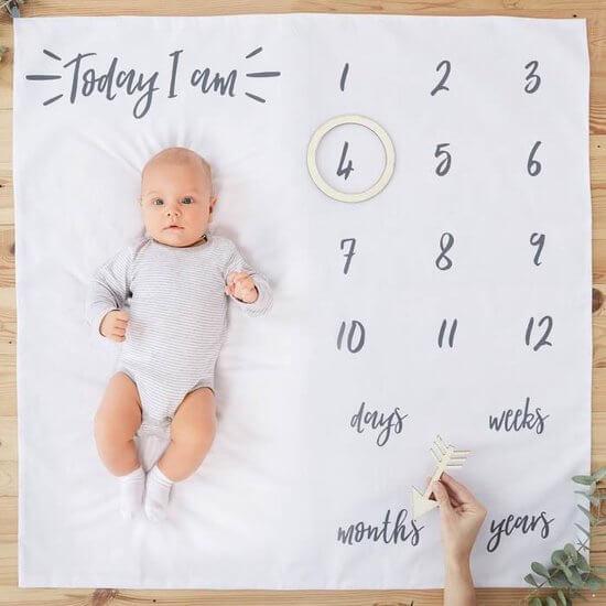Mijlpaal setje voor leuke babyfoto's