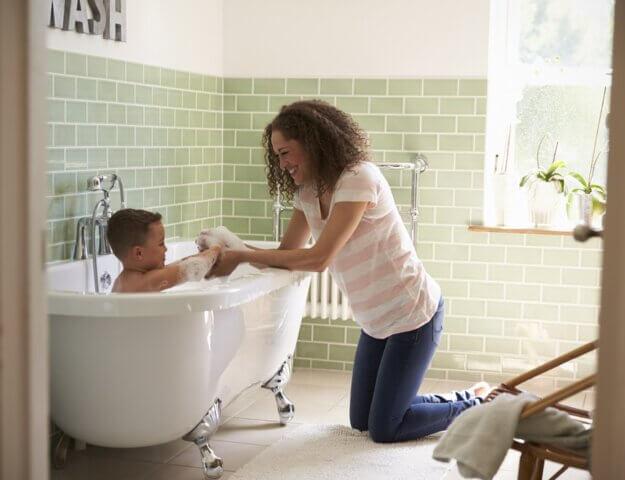 Kindvriendelijke badkamer