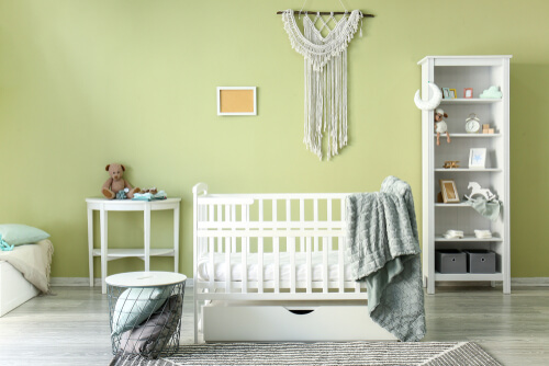 Babygroene babykamer