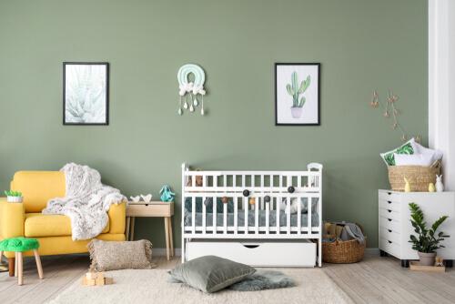 Babykamer groen grijs