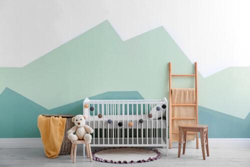Modern scandinavische babykamer