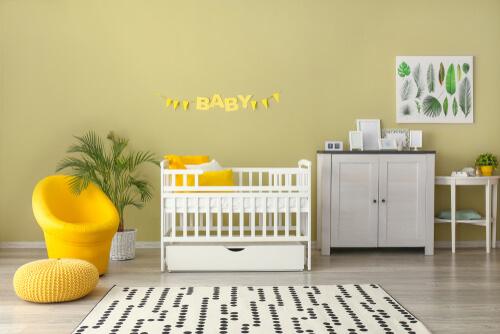 Babykamer olijfgroen