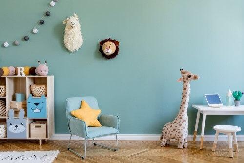 Kleuren verf voor in de babykamer
