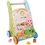 7. Bigjigs Baby - Activiteiten Loopwagen 'Bloemen'